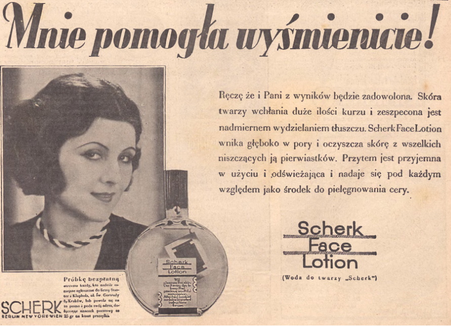 Scherk face lotion