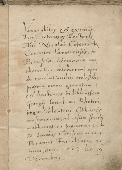 De revolutionibus libri six