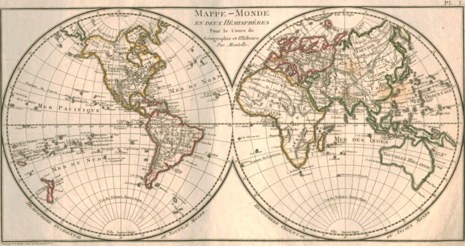 Map of the world - 1804