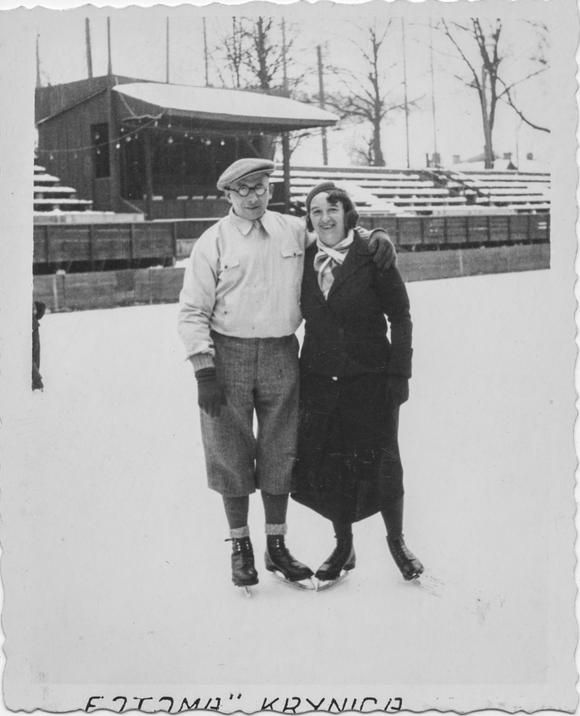 Skating couple, 1934