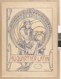 Au Quartier Latin, cover design ; Alfons Mucha
