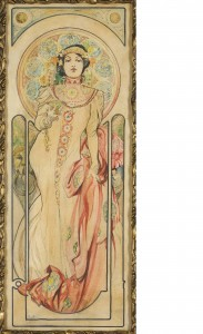 Design for a poster for the Moet et Chandon Company; Alfons Mucha