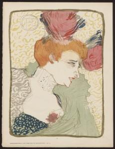Mademoiselle Marcelle Lender, en Buste; Henri de Toulouse Lautrec