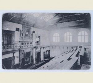 Interior of an unknown synagogue