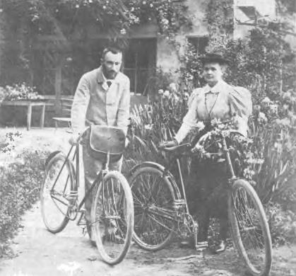 Maria z mężem na rowerach