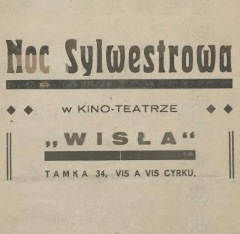 Noc Sylwestrowa w Kino-Teatrze Wisła