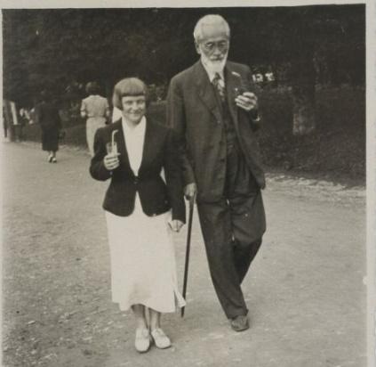 Maria Dąborowska ze Stanisławem Stempowskim