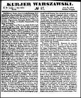 Kurjer Warszawski., R.26, nr 57 (28 lutego 1846)
