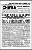 Chwila : dziennik dla spraw politycznych, społecznych i kulturalnych, R.18, nr 6078 (22 lutego 1936)