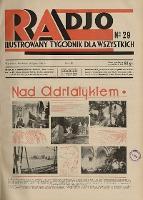 Radio : ilustrowany tygodnik dla wszystkich 1931 R.VI nr 29