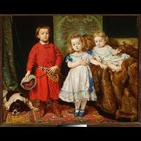 Portret trojga dzieci artysty: Tadeusza, Heleny i Beaty - Matejko, Jan (1838-1893)