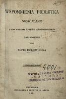 Wspomnienia podlotka : opowiadanie z 50ᵍᵒ wydania powieści Klementyny Helm - Bukowiecka, Zofia (1844-1920)