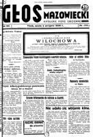 Głos Mazowiecki : katolickie pismo codzienne. R. 7, 1939 nr 175 (2 VIII)