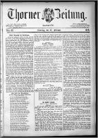 Thorner Zeitung 1881, Nro. 49