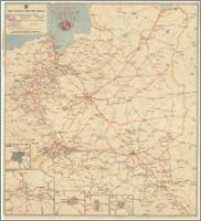Główniejsze linie komunikacyjne Europy : do urzędowego rozkładu jazdy : podziałka 1:9 000 000