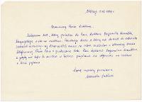 List do Bogdana Wrembla od Stanisława Zabłockiego