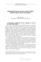 Philosophical notion of nature and the debate of Moral aspects of new technologie - Liana, Zbigniew