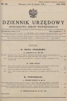 Dziennik Urzędowy Ministerstwa Spraw Wewnętrznych. 1934, nr22