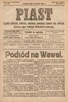 Piast : tygodnik polityczny, społeczny, oświatowy, poświęcony sprawom ludu polskiego : Naczelny organ Polskiego Stronnictwa Ludowego. 1926, nr50