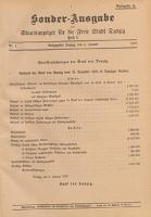 Staatsanzeiger für die Freie Stadt Danzig. Teil 1, 1930.11.18 nr 88