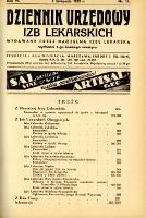 Dziennik Urzędowy Izb Lekarskich 1935 R.6 nr 11
