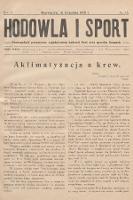 Hodowla i Sport : dwutygodnik poświęcony zagadnieniom hodowli koni oraz sportów konnych. 1928, nr15