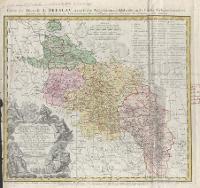 Carte du Diocese de Breslav, avec ses IV. Archidiaconats, subdivises en ses Cereles Archipresbyteriales [Dokument kartograficzny] - Felbiger, Johann Ignatz von