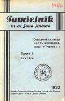 Pamiętnik ks. dr. Jana Pindóra - Pindór, Jan (1852-1924)