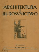 Architektura i Budownictwo 1927 nr 1