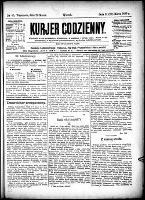 Kurjer Codzienny, R.25, nr 85 (26 marca 1889)
