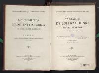 Najstarsze księgi i rachunki miasta Krakowa od r. 1300 do 1400 - Piekosiński, Franciszek (1844-1906)