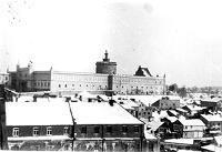 Panorama dzielnicy żydowskiej z Placu Po Farze - Czechowicz, Józef (1903-1939)