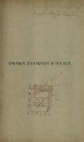 Sprawa żydowska w Polsce : szkic historyczny - Kutrzeba, Stanisław (1876-1946)