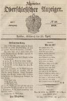 Allgemeiner Oberschlesischer Anzeiger : Blätter zur Besprechung und Förderung provinzieller Interessen zur Belehrung und Unterhaltung. 1848, nr33