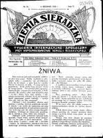 Ziemia Sieradzka 1923 R. 5, nr 31 - Brzeziński, Aleksander (1878-1941). Red. i Wydawca