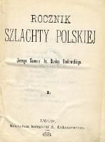 Rocznik szlachty polskiej. T. 1. - Borkowski, Jerzy Sewer Dunin (1856-1908)