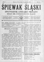 Śpiewak Śląski, 1920, R. 1, nr 3