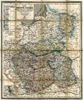 Mappa Królestwa Polskiego Obejmująca wszystkie miasta ze statystyką wsi znaczniejsze miejsca fabryczne i trakty pocztowe podług najnowszych urządzeń ułożona i wydana przez Józefa Herkner w Warszawie 1860