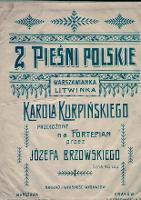 2 [Dwie] pieśni polskie : Warszawianka, Litwinka - Kurpiński, Karol (1785-1857)