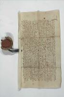 1450, Przemysław książę cieszyński potwierdza, że Mikołaj z Małych Kończyc sprzedał wieś Boguszowice Mikołajowi z Trzenkowic