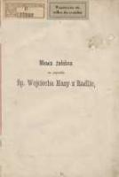 Mowa żałobna na pogrzebie śp. Wojciecha Hazy z Radlic miana w Lewicach dnia 22 kwietnia 1872 r. - Koźmian, Jan (1814-1877)