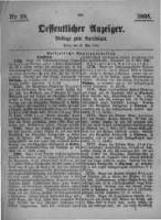 Oeffentlicher Anzeiger. Beilage zum Amtsblatt. Nr.19. 1885