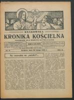 Krakowska Kronika Kościelna R. 2, nr 9 (1922)