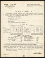 Zawiadomienie [Inc.:] Zwyczajne Walne Zgromadzenie Udziałowców Banku Ludowego Spółdzielni z ograniczoną odpowiedzial. w Warszawie na Nowem Bródnie odbędzie się we wtorek dnia 31-go maja 1932 r. [...]