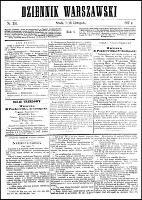 Dziennik Warszawski., R.4 (13 listopada 1867), nr 251