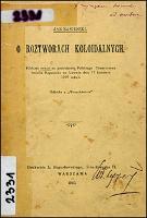 O roztworach koloidalnych : (odczyt miany na posiedzeniu Polskiego Towarzystwa imienia Kopernika we Lwowie dnia 17 kwietnia 1910 roku) - Zawidzki, Jan (1866-1928)