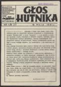 """Głos Hutnika. Biuletyn informacyjny Zakładowej Komisji Związkowej NSZZ """"Solidarność"""" Huty """"Szczecin"""", nr 1(1) - brak autora"""