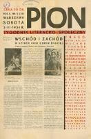 Pion : tygodnik literacko-społeczny 1934 R. II nr 9 (22)