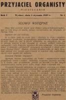 Przyjaciel Organisty : miesięcznik. 1939, nr1