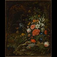 Kwiaty i drobne stworzonka - Vanitas - Mignon, Abraham (1640-1679)
